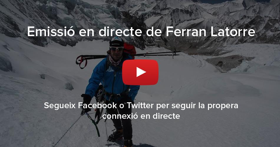 Emissió en directe de Ferran Latorre